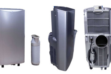 four different air conditioning units